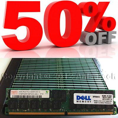 4GB (2x2GB) Dell Poweredge PC2-3200 ECC Registered Dual-Rank Memory Kit 310-4987