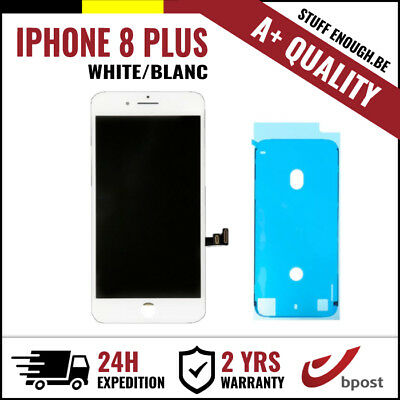 A+ LCD TOUCH SCREEN DISPLAY/SCHERM/ÉCRAN WHITE BLANC FOR IPHONE 8 PLUS+STICKER