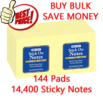 14400 Sticky Pop-up Notes 3 X 3-inches Canary Yellow