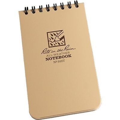 Rite In The Rain 935t All-weather Universal Spiral Notebook Tan 3 X 5