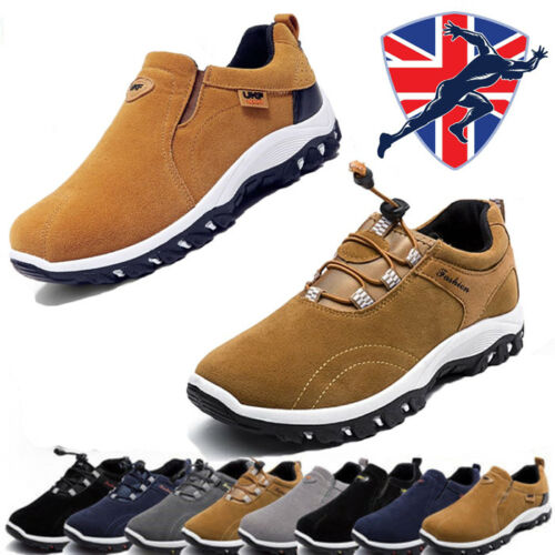 Men Athletic Sport Shoes Suede Hiking Running Casual athletic Shoes