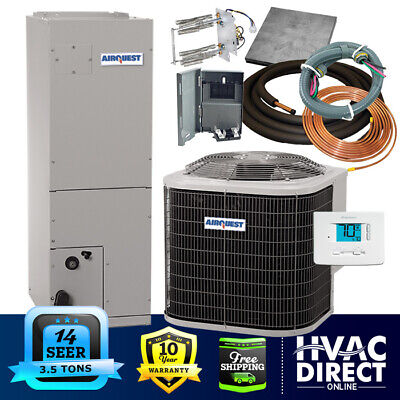 3.5 Ton 14 SEER AirQuest-Heil by Carrier Heat Pump System with Install Kit