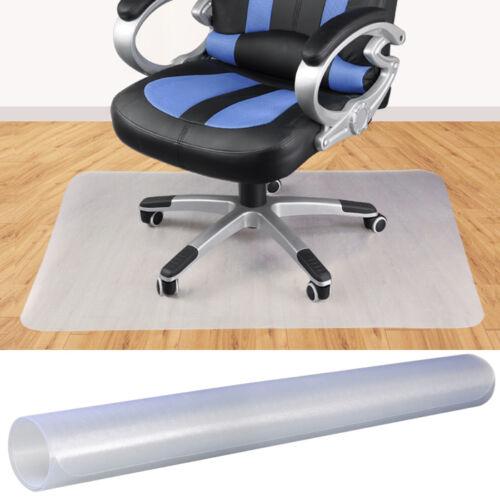 rectangle clear multitask pvc home office chair floor mat for hardwood floors us ebay. Black Bedroom Furniture Sets. Home Design Ideas