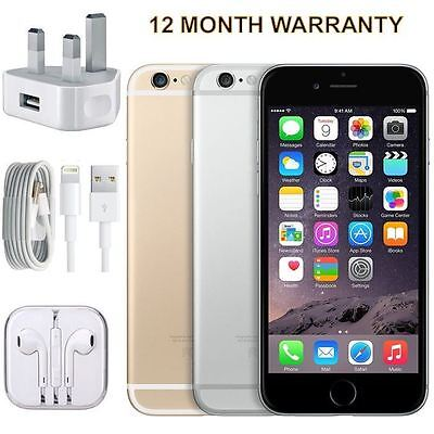 SELLER REFURBISHED APPLE IPHONE 6 16GB 64GB 128GB SILVER GREY GOLD UNLOCKED SMARTPHONE ALL COLOURS