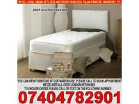 BRAND NEW Single/Double/Small Double Kingsize Divan Bed 10inch Full Orthopaedic Mattress
