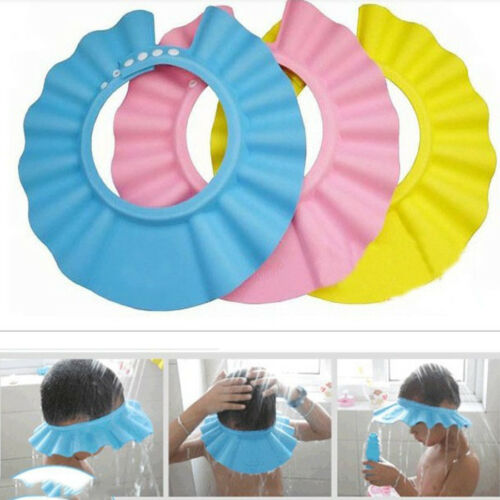 Bathroom Soft Shower Wash Hair Cover Head Cap Hat for Child