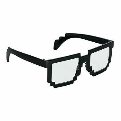 Brille Pixel Nerd, schwarz Computerspiel Funbrille Kostümzubehör - Computer Spiele Kostüm