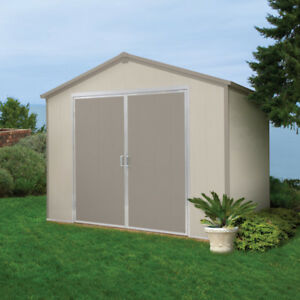 Vision 9 1/2' x 8' Vinyl Storage Shed w/ Skylight, Wood Platform