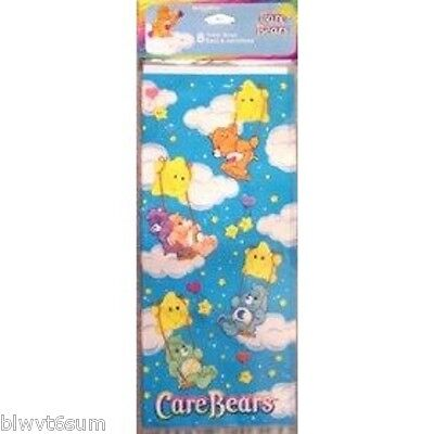 RARE CARE BEARS RAINBOW PACK OF 8 TREAT SACKS