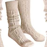 Calze Da Costume Folkloristico Over-knee Socks Calzini Trecce Beige-marrone -  - ebay.it