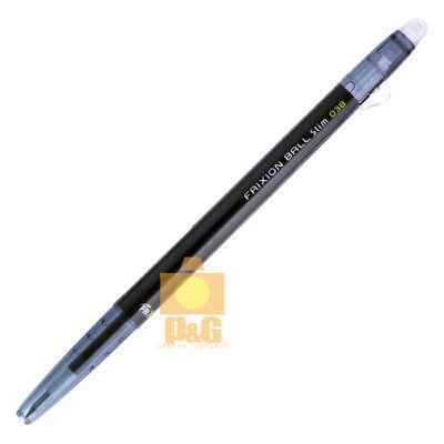 Pilot Frixion Colors Erasable Marker Ball Slim 0.38mm Gel Pen Black Lfbs-18uf