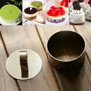 New Round Stainless Steel Mousse Cake Ring Mold Cupcake Mould DIY Cooking