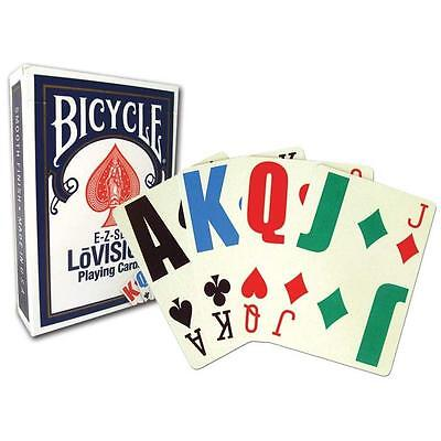 1 Deck Bicycle Lo Vision Playing Cards Lovision E-Z Large In