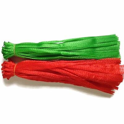100 Red+Green Reusable Nylon poly Mesh net bags for Produce Fruit Vegetable Nuts