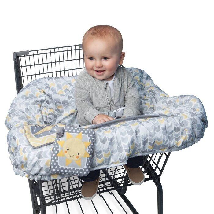 Boppy Shopping Cart and Restaurant High Chair Cover - Sunshine