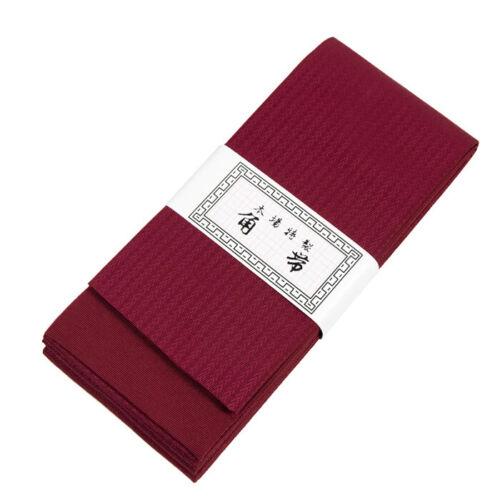Japanese Traditional KAKU OBI Kimono Red Belt Polyester Made in JAPAN