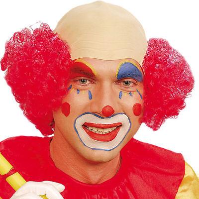 Clown Perücke aus Latex mit Halb Glatze und roten Haaren, ideal für Karneval ()