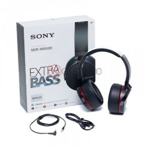 BLACK SONY MDR-XB950B1 EXTRA BASS BLUETOOTH HEADPHONES BRAND NEW