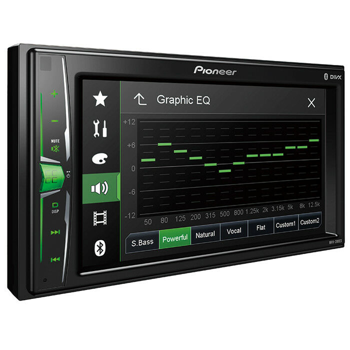 Pioneer MVH-200EX Double 2 DIN MP3/WMA Digital Media Player 6.2 LCD Bluetooth