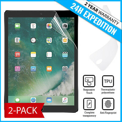 2-Pack Screen Protector PET Protecteur Foil Soft TPU Film For iPad Pro 10.5""