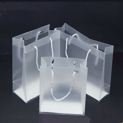 New Frosted Transparent Tote Bag  Purse Shoulder Handbag Stadium Approved - Frosted Clear Totes