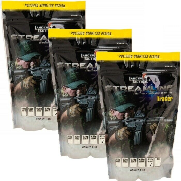 9000 TRACER GLOW IN THE DARK .32g AIRSOFT BBs SEAMLESS AMMO Gun 6mm BB PELLETS