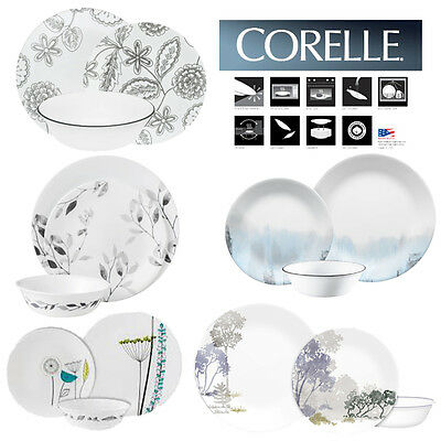 Corelle Vitrelle Kitchen Modern Design Dinnerware 12pc Sets Service Cup