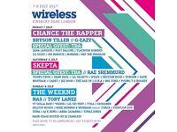 Wireless ticket. Saturday and Sunday.