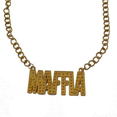 Halskette Maffia gold, Goldkette Mafiakostüm Zubehör PIMP Verkleidung Schmuck