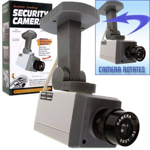 Hawk 72-1463 Rotating Imitation Security Camera with LED Lig