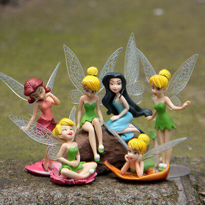 Tinker Bell Toys (Tinkerbell Tinker Bell Fairy Girls Dolls 6pcs Figures Cake Topper Party Toy)