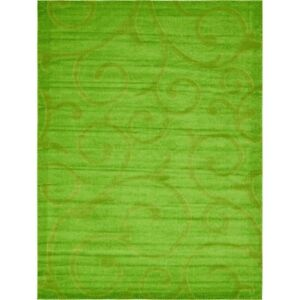 8' x 10' Floral Green Rug
