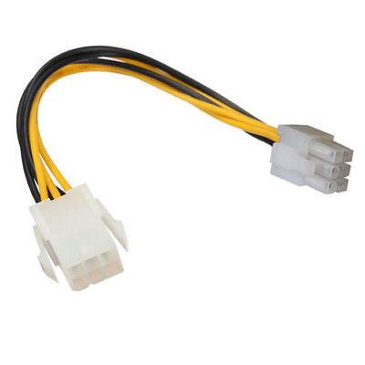 R00 18cm 6pin PCIe Kabel Verlängerungskabel zu 6pin Grafikkarte Stromkabel PCI-E - 6 Pin Verlängerung