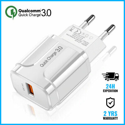 Qualcomm Quick Charge 3.0 USB Port Wall Charger Chargeur Prise Adapter White