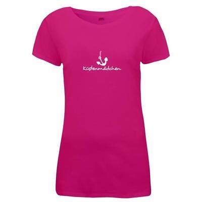 Küste Mädchen (Damen T-Shirt - Anker Küstenmädchen - Küste Meer)
