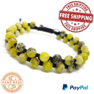 Genuine African Turquoise Men's Handmade Bracelet Free Shipping