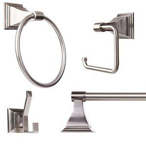 brushed nickel bath accessories ebay