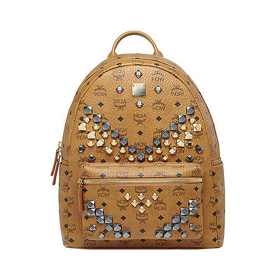 MCM Medium BackPack Stark MMK6SVE18CO Cognac Color