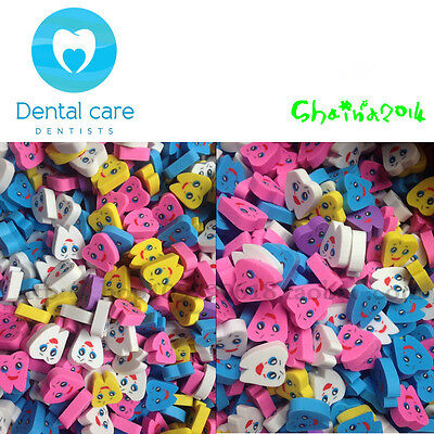 50pcs Molar Shaped Tooth Rubber Erasers Dentist Dental Clinic School Great Gift