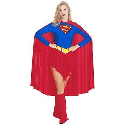 Superwoman Adult Costume (Superwoman Supergirl Superhero Halloween Ladies Adult Party Fancy Dress)