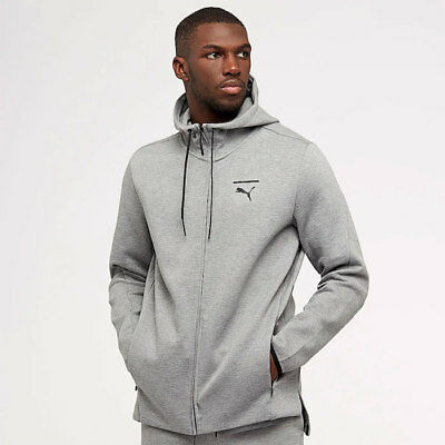 Zip Hoody Jacke (Puma Evo Core Zip Hoody Jacket Sweatjacke Tech SPECIAL firebird NEU Grau)
