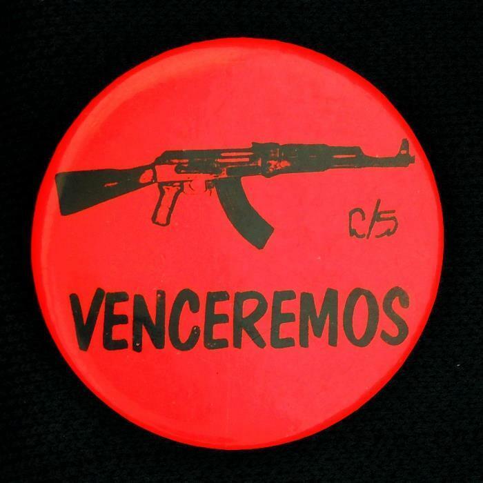 VENCEREMOS Spanish Hippie Cause Pinback Button