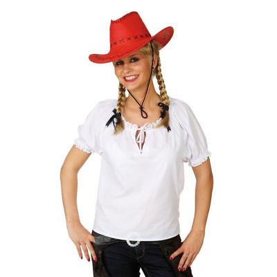 Damen-Bluse Western mit Spitze Cowgirl Saloon Girl Westernkostüm     ()