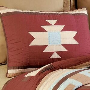 Southwestern Standard Sham Red Canyon Cabin Southwest Quilted Pillow Cover eBay