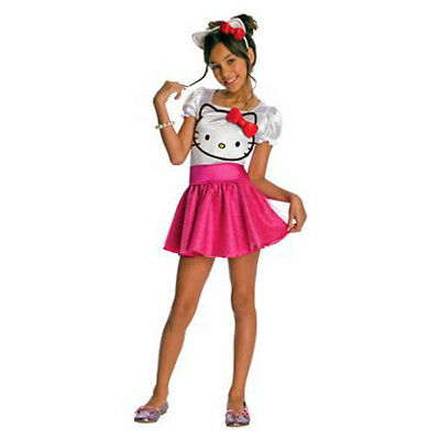 Hello Kitty Pink Sparkly Tutu S 4-6 Costume Child Halloween Dress Up Cat