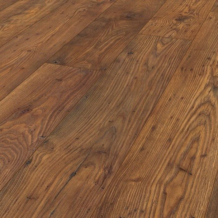 X6 PACKS VINTAGE CLASSIC BAKERSFIELD CHESTNUT 8MM V GROOVE LAMINATE FLOORING