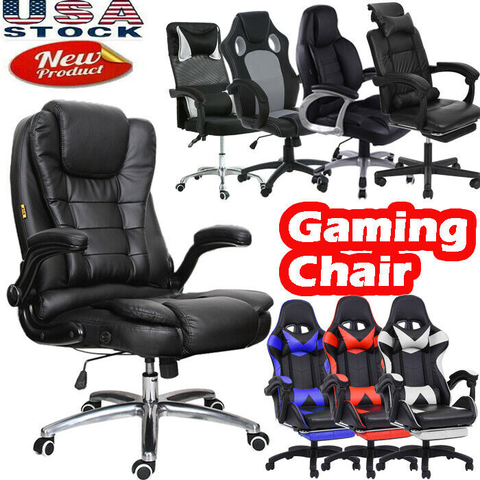 pu leather high back office chair gaming