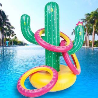 """SunnyIife Inflatable Cactus Ring Toss Game Gold Label """"FREE"""" Morley Bayswater Area Preview"""
