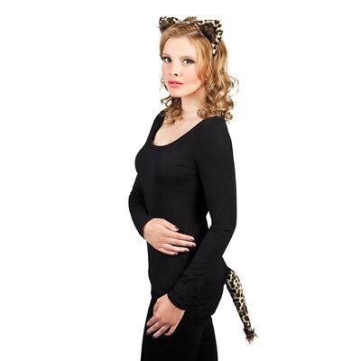 Karneval Kostüm Leoparden -Set 2teilig Haarreif mit Ohren & - Leopard Kostüm Ohren