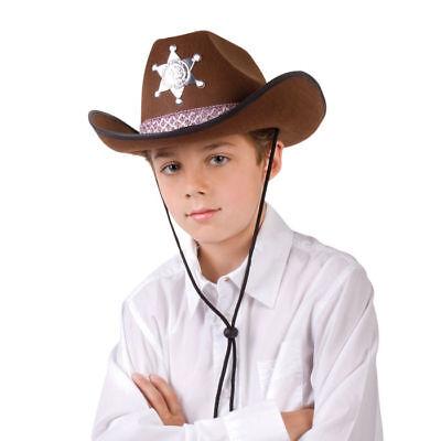 Hut Sheriff für Kinder, braun Sheriffshut Cowboyhut  - Sheriff Hut